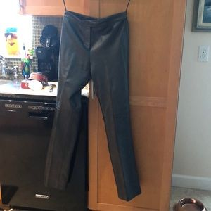 Ralph Lauren Collection Gray Leather Pants.